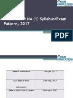 UPSC NDA & NA(1), 2017