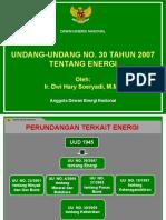 1-UU No 30-2007 Tentang Energi