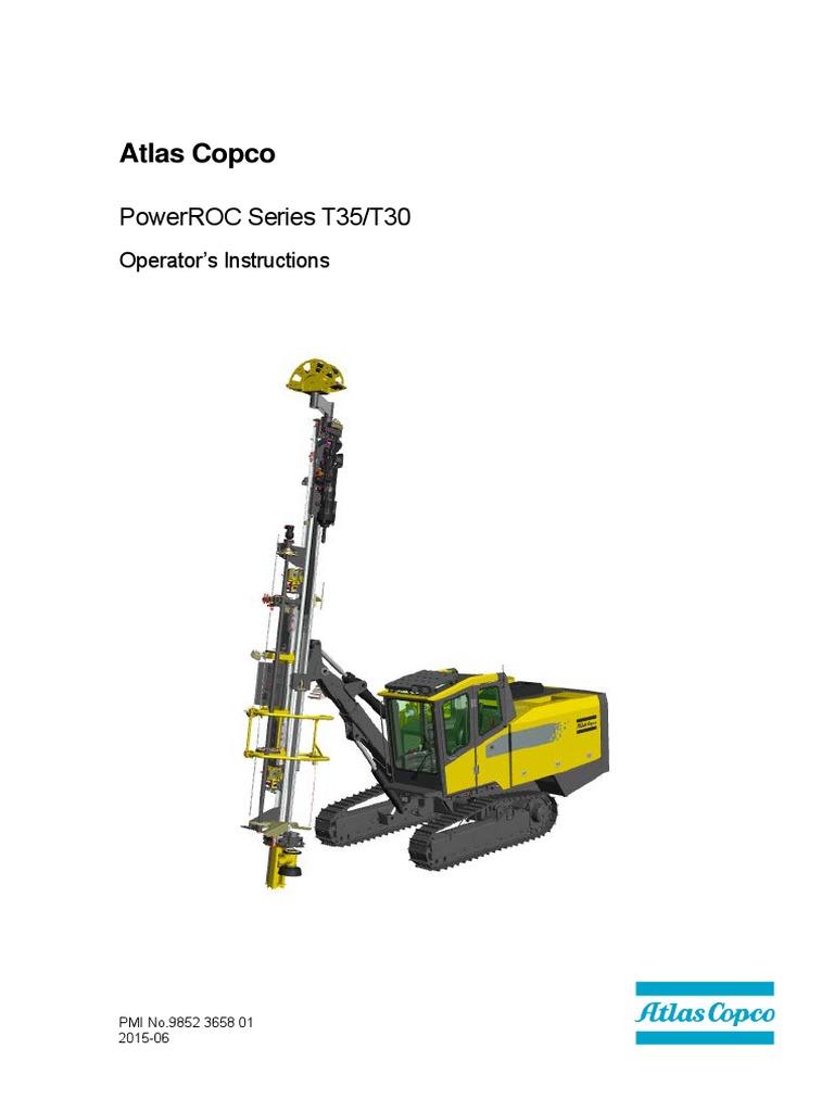 [CSDW_4250]   9852 3658 01 Operator's Instructions PR T35 & T30 En | Diesel Engine |  Drilling Rig | T35 Wiring Diagram |  | Scribd