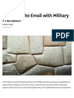 How to Write Email With Military Precision