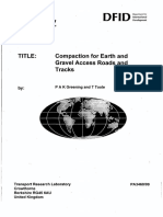 Compaction for Earth & Gravel Roads