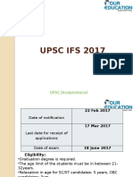 UPSC IFS 2017 Exam Pattern