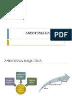 Anestesia Raquidea