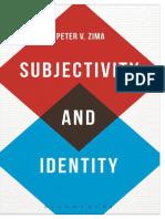 Subjectivity and Identity_ Betw - Peter v. Zima