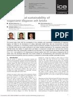 Suitability and Sustainability of Sugarcane Bagasse Ash Bricks