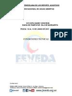 Condiciones XVI COPA DANNY CHOCRON Aguas Abiertas 2015 Final 1