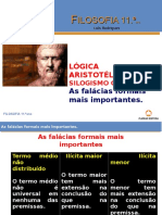 Silogismo categórico As mais importantes falácias formais