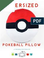 Pokeball Pillow Sewing Pattern