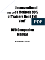 Companion Manual the Unconventional Fat Loss 99 Trainers Don't Tell You