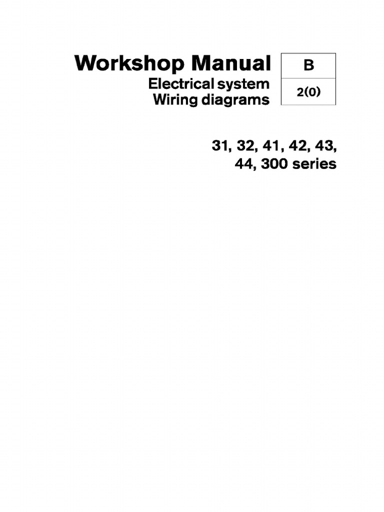Volvo Penta 31, 32, 41, 42, 43, 44, 300 Series Wiring Diagrams | Battery  (Electricity) | Components | Volvo Kad 43 Wiring Diagram |  | Scribd