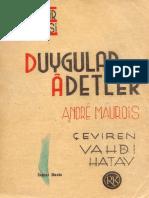 Andre Maurois-Duygular Ve Adetler