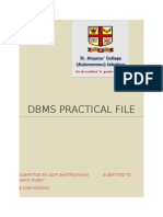 Dbms Practical File Ft Pg
