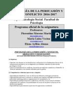 Programa Ps.persuasión y Conflicto.2016-2017