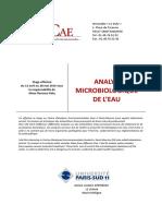 Rapport Eau Veolia