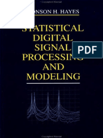 Statistical DSP and Modelling by Monson H Hayes