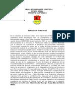 Ordenanza de Zonificación Urbanística Del Municipio Campo Elías Del Estado Mérida