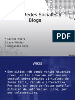Redes Sociales,Blogs y Wikis