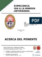 1. Geomecanica Aplicada a La Minería Subterránea (1)
