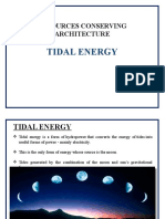 Resource Conserving Architecture Tidal Energy