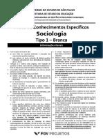 Prova Sociologia Concurso Fgv