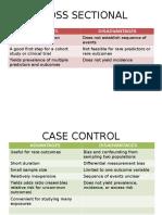 Study Design Comparison