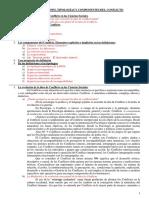 Definiciones, Tipologías, Componentes del Conflicto