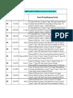 Revised Internal Campus Bus Schedule