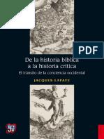 Seccion de Obras de Historia   De la historia bíblica a la hist