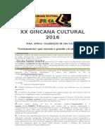 Xx Gincana Cultural 2016