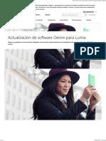 Actualización de Software Denim Para Lumia - Microsoft - España