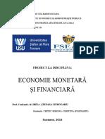 economie monetara proiect