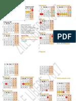 Calendar Zile Libere 2017 Concediu Propus