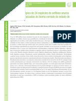 Análise cariotípica de 24 espécies de anfíbios anuros de áreas antropizadas do bioma cerrado do estado de Goiás