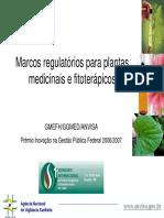 Marcos Regulatórios Para Plantas Medicinais e Fitoterápicos