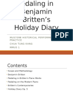 Britten Holiday Diary Pedaling