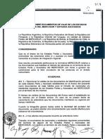Acuerdo de Viaje Mercosur 2008