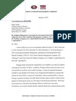49ers letter to Santa Clara Stadium Authority regarding lawsuit
