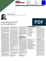 O Problema Do IVA Nos Condomínios