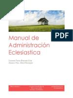 Manual de Administración Eclesiastica