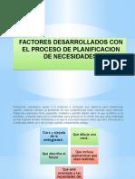 Factores Desarrollados Con El Proceso de Planificacion De