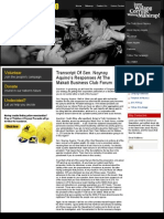 Transcript of Responses at the Makati Business Club Forum