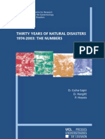 Thirthy Years of Natural Disasters 1974-2003 the Numbers
