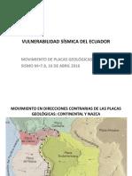 VULNERABILIDAD SISMICA DEL ECUADOR-PRESENTACION CAMICON