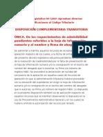 Decreto Legislativo Nº 1263 - No Se Requiere Firma Del Letrado