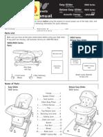 Combi High Chair Manual