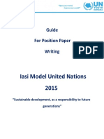 Iasi Mini MUN 2015 Guide for Position Paper Writing