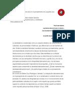 RELATORÍA N 1 Identidad Colombiana Latinoamericana