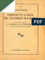 Cortazar Sacher Masch Deleuze