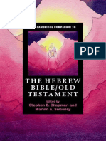 (Cambridge Companions to Religion) Stephen B. Chapman, Marvin a. Sweeney-The Cambridge Companion to the Hebrew Bible_Old Testament-Cambridge University Press (2016)