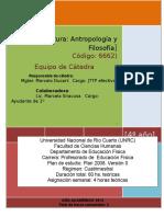 Programa Antropología y Filosofía